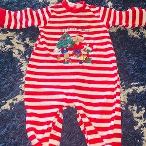 9mo my first Christmas footed pajamas